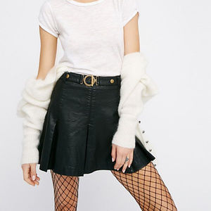 Free People But I Love It  Black Pleated Skirt 4